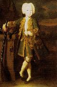 Portrait of a boy. Was att. as Peter III or Peter II's portrait, possibly Elizabeth in men's dress, Louis Caravaque