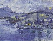 Lake Lucerne in the afternoon, Lovis Corinth