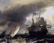 Dutch Vessels on the Sea at Amsterdam