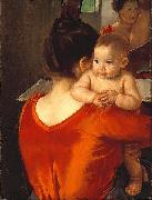 Woman in a Red Bodice and Her Child
