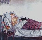 Michael Ancher Sick Girl oil painting reproduction