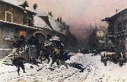Neuville, Alphonse de The Attack at Dawn oil painting reproduction
