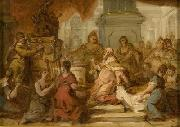 Nicolas Vleughels Nicolas VLEUGHELS  The Idolatry of Solomon oil painting