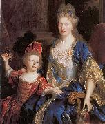 Nicolas de Largilliere Portrait of Catherine Coustard with her daughter Leonor oil painting reproduction