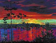 Nikifor Krylov Rylov Sunset oil painting