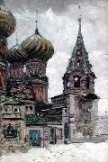 Nikolay Nikanorovich Dubovskoy St. Basil's Cathedral oil painting