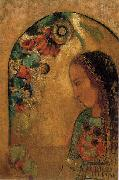 Lady of the Flowers., Odilon Redon