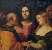 Palma il Vecchio Christ and the Adulteress oil painting