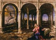 Paris Bordone The Annunciation oil painting reproduction