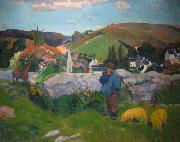 Paul Gauguin Swineherd oil painting reproduction