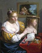 Girl with a Mirror, an Allegory of Profane Love