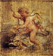 Cupid Riding a Dolphin, Peter Paul Rubens