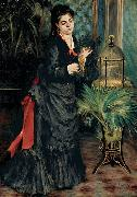 Woman with a Parrot, Pierre Auguste Renoir