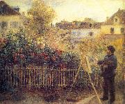 Monet painting in his Garten in Argenteuil, Pierre Auguste Renoir