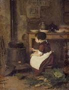 Pierre Edouard Frere Little Cook oil painting