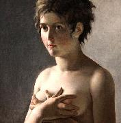 Pierre-Narcisse Guerin Jeune fille en buste oil painting