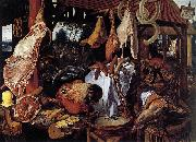 Pieter Aertsen Butcher s Stall oil painting reproduction