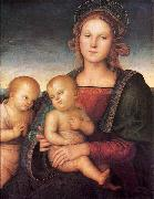 Madonna with Child and the Infant St John, Pietro Perugino
