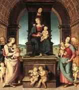 The Family of the Madonna, Pietro Perugino