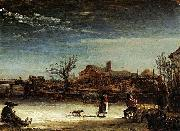REMBRANDT Harmenszoon van Rijn Winter Landscape oil painting reproduction