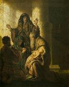 Simeon and Anna Recognize the Lord in Jesus, REMBRANDT Harmenszoon van Rijn