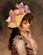 Portrait Of A Lady In Pink Ribbons, Raimundo Madrazo