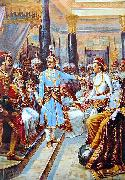 Raja Ravi Varma Sri Krishna as Envoy oil painting