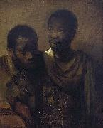 Rembrandt Peale Two young Africans. oil painting reproduction