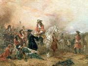 Robert Alexander Hillingford Duke of Marlborough signing the Despatch at Blenheim oil painting on canvas