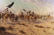 Flight of the Khalifa after his defeat at the battle of Omdurman, Robert Talbot Kelly