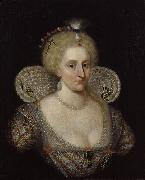 SOMER, Paulus van Portrait of Anne of Denmark oil painting