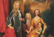 Sir Godfrey Kneller James Brydges (later 1st Duke of Chandos) and his family oil painting artist