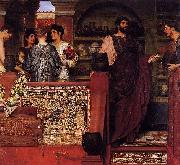 Sir Lawrence Alma-Tadema,OM.RA,RWS Hadrian Visiting a Romano-British Pottery Sir Lawrence Alma-Tadema oil painting