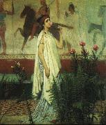Sir Lawrence Alma-Tadema,OM.RA,RWS A Greek Woman Sir Lawrence Alma-Tadema oil painting