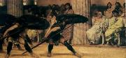 Sir Lawrence Alma-Tadema,OM.RA,RWS A Pyrrhic Dance Sir Lawrence Alma-Tadema oil painting