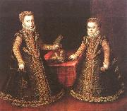 Sofonisba Anguissola Infantas Isabella Clara Eugenia and Catalina Micaela oil painting reproduction