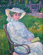 Lady in White - Portrait of Mrs. Theo Van Rysselberghe, Theo Van Rysselberghe