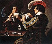 Theodoor Rombouts The Card Players oil painting