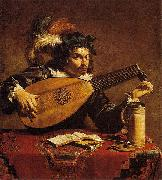 Theodoor Rombouts Lute Player oil painting reproduction
