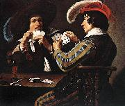 Theodoor Rombouts Card Players oil painting