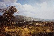 Theodore Fourmois Landscape in the Ardennes oil painting
