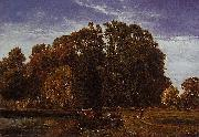 Theodore Fourmois The lake at Beloeil oil painting reproduction