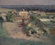 Theodore Robinson The Red House oil painting reproduction