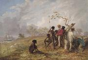 Thomas Baines Thomas Baines with Aborigines near the mouth of the Victoria River oil painting