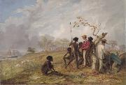 Thomas Baines Thomas Baines with Aborigines near the mouth of the Victoria River, N.T. oil painting