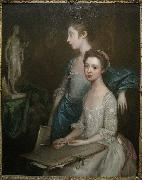 Thomas Gainsborough Portrait of the Artist's Daughters oil painting reproduction