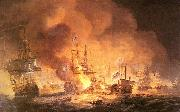Thomas Luny Battle of the Nile oil painting