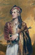 Thomas Phillips Lord Byron in Albanian dress oil painting