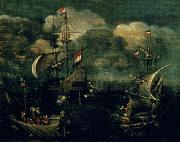 VROOM, Hendrick Cornelisz. Ship battle oil painting reproduction