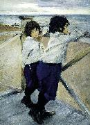 Children. Sasha and Yura Serov, Valentin Serov